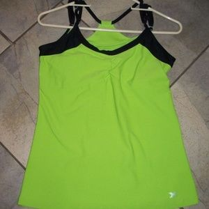 Performance Xersion Green Racerback Fitness Top M